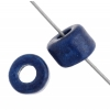 Ceramic Bead Cylinder 6X4mm Electric Blue